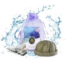 Пралине для ванны «Голубая лагуна» с маслом авокадо и голубой глиной